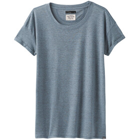 Prana Cozy Up T-Shirt Donna, vintage blue heather